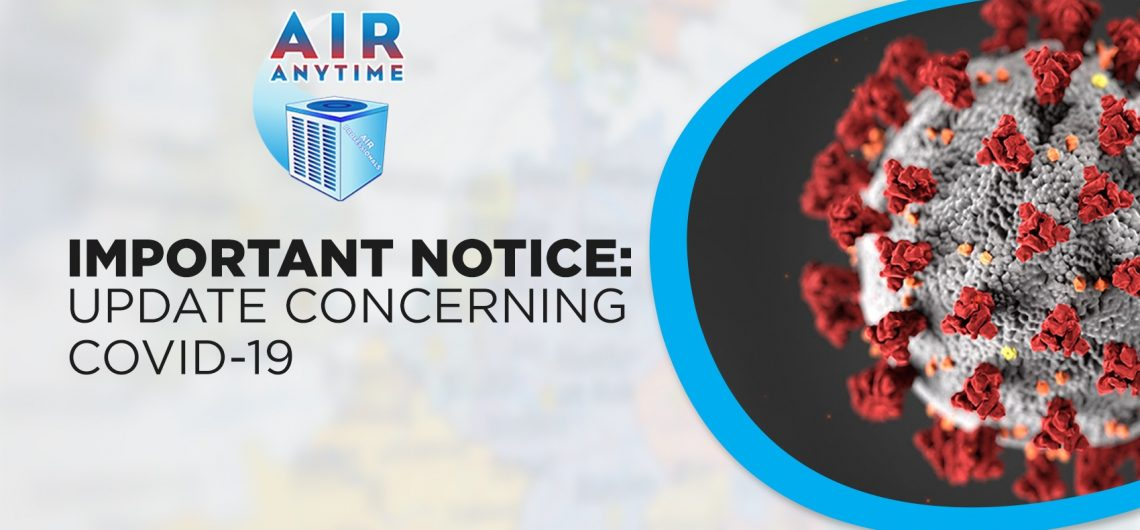 IMPORTANT NOTICE: UPDATE CONCERNING COVID-19